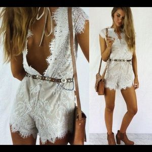 Lace romper from Saboskirt